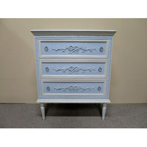 A small French painted timber