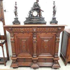 French 19th Century Renaissance style sideboard, with striking carved detail. This sideboard is definitely a stand out piece...