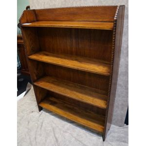Period Oak Open Bookcase in De