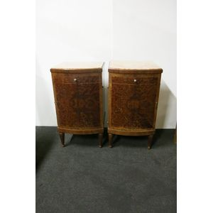 Pair of Art Deco French mahoga