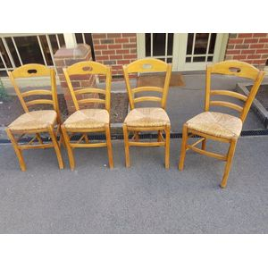 Set of four beech ladder back