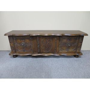 French Provincial carved oak c