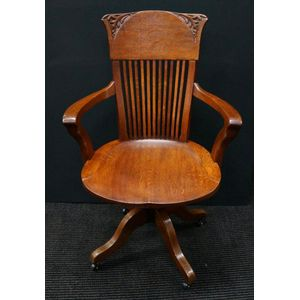 Edwardian Oak Desk Chair .....