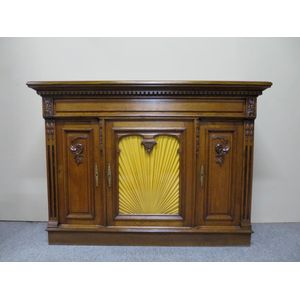 French oak console cabinet of