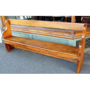 Kauri pine church pew, solid h