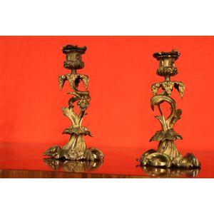 Antique Chippendale gilt bronz