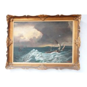 Stunning framed French oil pai