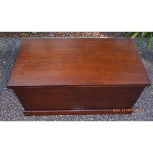 Antique  Australian Colonial Cedar Blanket Box .