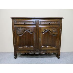 French Provincial oak buffet f