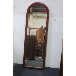 Tall mahogany Victorian mirror