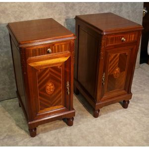 Pair of French Lxv Bedside Cab