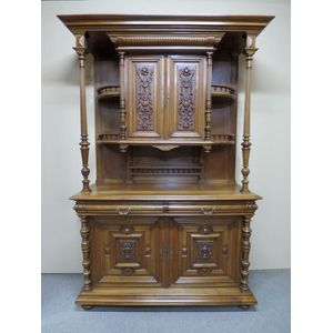 19th century French walnut buf