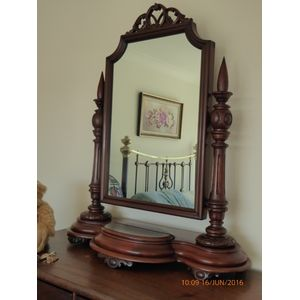 Antique Cedar Dressing /Toilet Mirror C1860