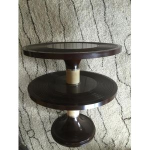 Fantastic 1930's deco Bakelite and chrome two tier occasional table.....in immaculate condition! Rare to see the two tier...