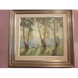 Frank Mutsaers oil on board titled Sunrise Don valley ,pleasant work by this accomplished artist . Dimensions overall framing .