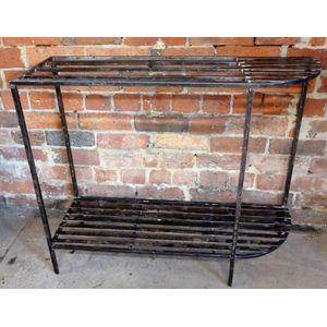 Polished steel plant stand