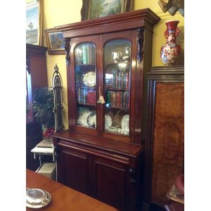 Antique bookcase circa 1870. A