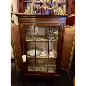 Antique display cabinet in the