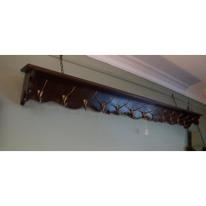 Large French Walnut Coat Rack In Good Clean Detailed Condition