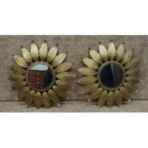 pair of french sunburst mirror