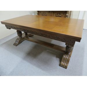 A large French oak parquetry t