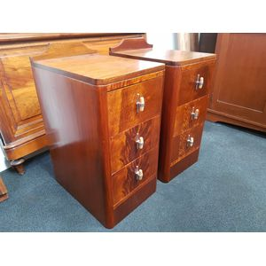 Pair of Art Deco 3 drawer beds