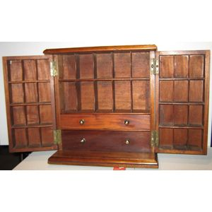 Apothecary Cabinet Chest,Solid
