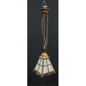 Original Arts and Crafts American Lantern in Detailed and Rewired Condition