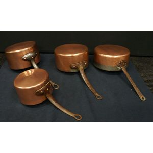 Old French Copper Cooking Pots