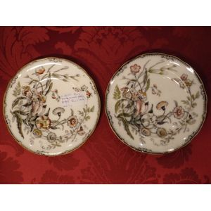 A pair of Victorian plates by