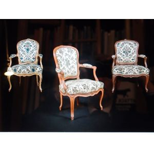 We have just had a shipment of 18th century Parisian chairs from the reign of Louis XV and Louis XVI. Three are signed by...