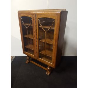 Art Deco English oak bookcase