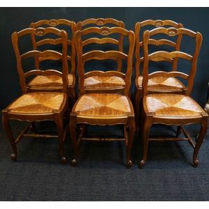 Set of Six French Oak