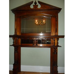 Grand Federation two pce fire surround in great condition very atractive.