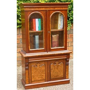 Rare Colonial Australian Cedar and Huon Pine Apprentice Bookcase
