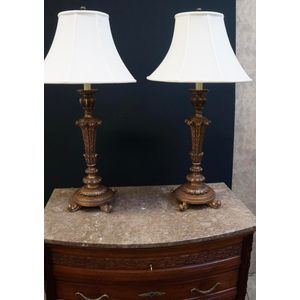 Pair of French Style Lamps ...