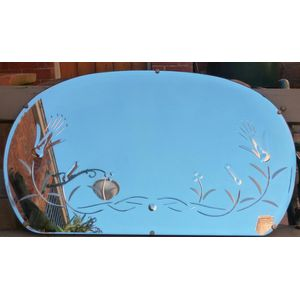 Art deco cut glass wall mirror, quite a large mirror in good original condition.