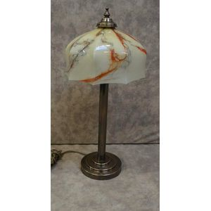 Tall Art Deco Colum Lamp With