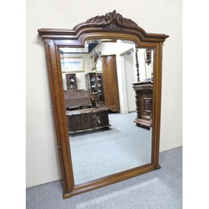 A large French wall mirror in