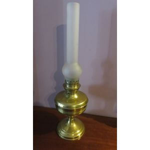 French brass oil lamp ,frosted