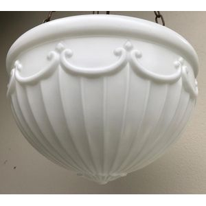 Large 1930's deco moulded whit