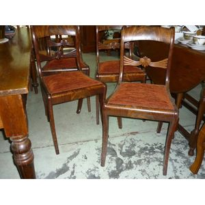 a set of 4 late Georgian chair