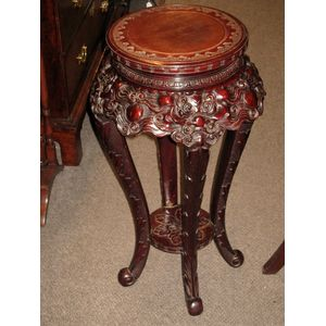 A finely carved Chinese C1900