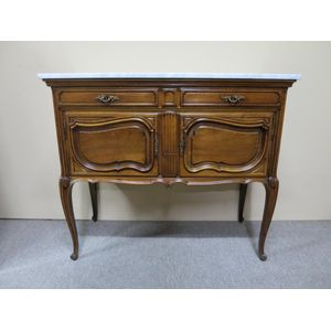 A fine French walnut 2-drawer,