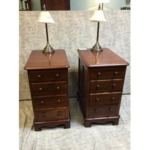 Pair of Victorian Cedar Bedsid