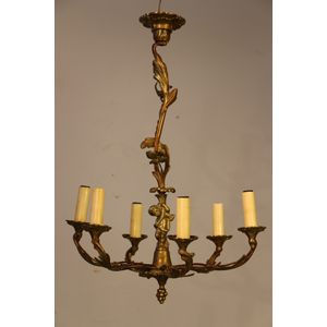 French rococo solid brass ormo