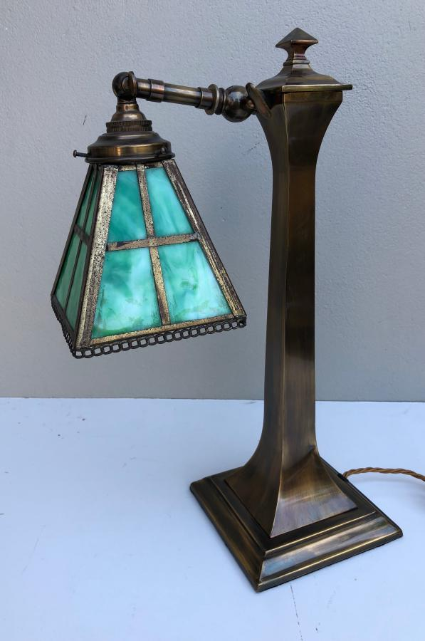 Buy Arts Amp Crafts Brass Desk Lamp Shade From Prism