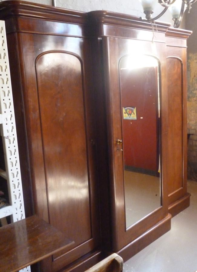 Buy Large Vict mahogany breakfront robe from Antique ...