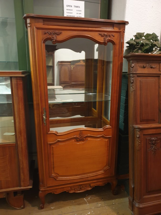 Buy French Cherry Wood Display Cabinet From Brunswick