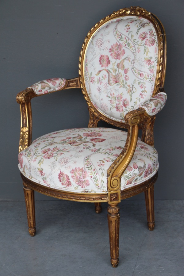 Buy Giltwood Gustavian Tub Armchair Swedish From Antiques